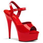 DELIGHT-609 Klasické červené erotické sexy boty na podpatku