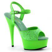 DELIGHT-609UVG Luxusní zelené svítivé sexy boty na podpatku