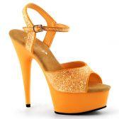 DELIGHT-609UVG Luxusní oranžové svítivé sexy boty na podpatku