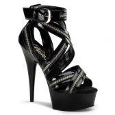 DELIGHT-663 Pásková sexy obuv na podpatku a platformě