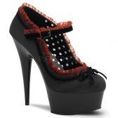 DELIGHT-683 Černé dámské sexy lodičky na podpatku a platformě
