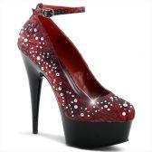DELIGHT-686LC Luxusní rudé dámské lodičky na podpatku