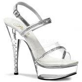 DIAMOND-639 Sexy průhledné boty na podpatku a platformě