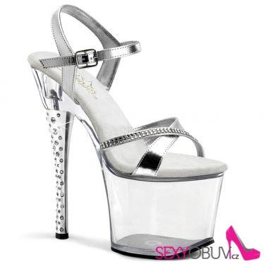 DIAMOND-715 Sexy boty na vysokém podpatku a platformě