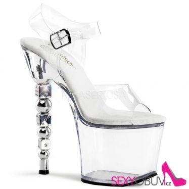 DICE-708 Průhledné sexy boty na vysokém podpatku a platformě