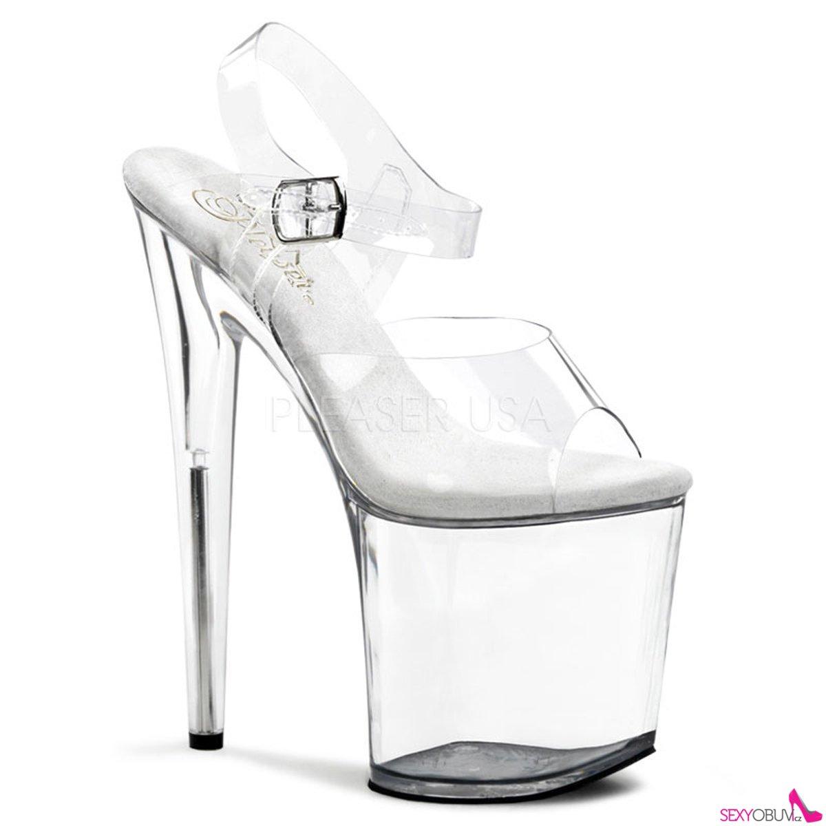 d2acd73c01f FLAMINGO-808 Sexy průhledné boty vysoké podpatky a platforma ...