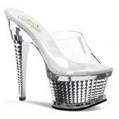 ILLUSION-651 Sexy dámské pantofle na podpatku a platformě