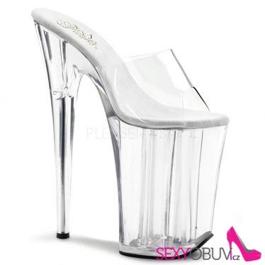 INFINITY-901 Extrémně vysoké dámské podpatky průhledné pantofle