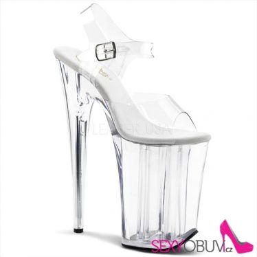 INFINITY-908 Extrémně vysoké dámské podpatky průhledné boty