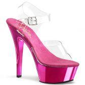 KISS-208 Klasická taneční sexy obuv na podpatku růžová/průhledná