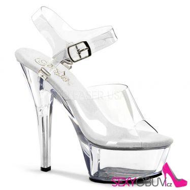 KISS-208DAS Klasická průhledná taneční sexy obuv na podpatku