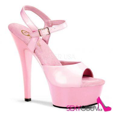 KISS-209 Klasická strip taneční sexy obuv na podpatku růžová