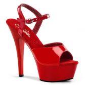 KISS-209 Klasická červená strip taneční sexy obuv na podpatku