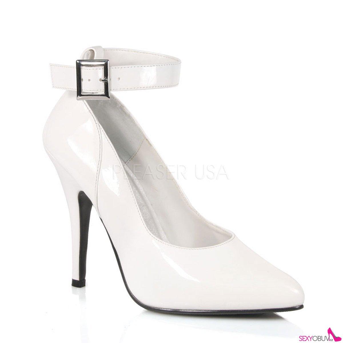 SEDUCE-431 Klasické bílé dámské lodičky na podpatku 0d2069def6