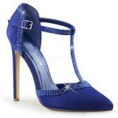 SEXY-25 Modré luxusní sexy lodičky na podpatku
