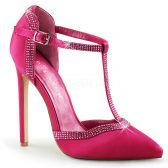 SEXY-25 Růžové luxusní sexy lodičky na podpatku