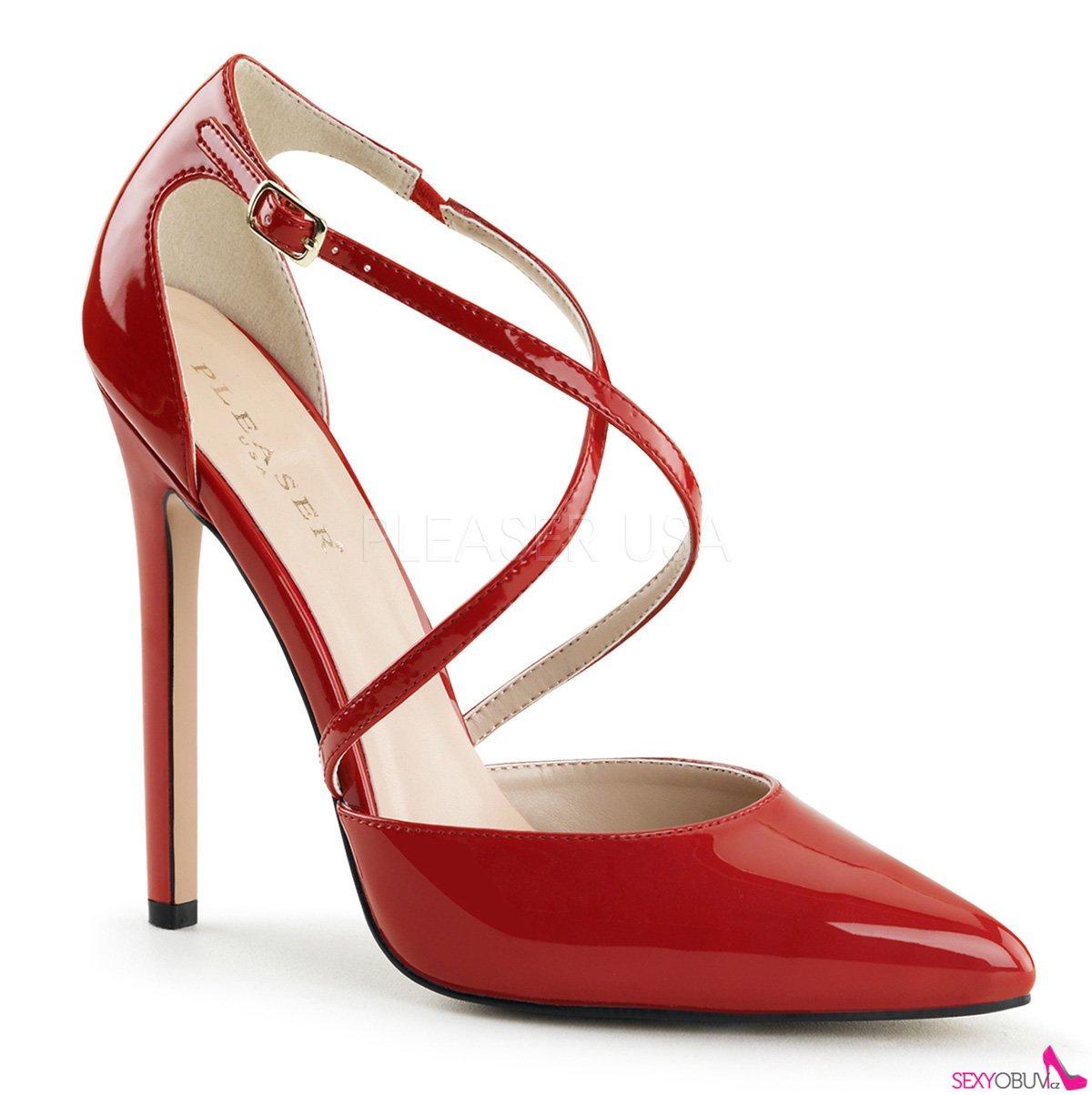 c753131696bd SEXY-26 Červené sexy lodičky na podpatku