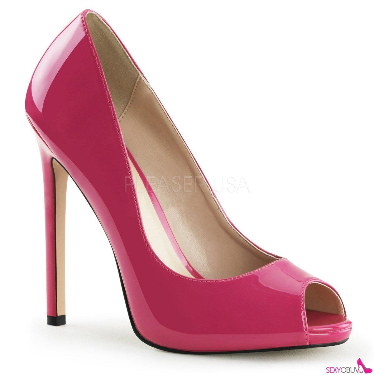 86ed92da4517 SEXY-42 Růžové sexy lodičky na podpatku