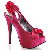 TEEZE-56 Elegantní růžové dámské lodičky na vysokém podpatku