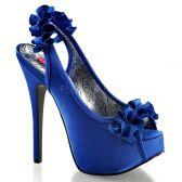 TEEZE-56 Elegantní modré dámské lodičky na vysokém podpatku