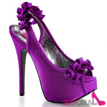 TEEZE-56 Elegantní fialové dámské lodičky na vysokém podpatku