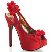 TEEZE-56 Elegantní červené dámské lodičky na vysokém podpatku