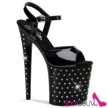 STARDUST-809 Extra vysoké černé sexy boty