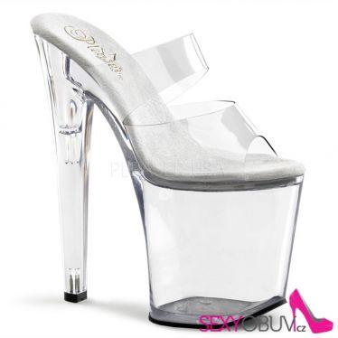 XTREME-802 Sexy průhledné boty na vysokém podpatku a platformě