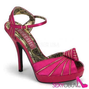 PREEN-16 Růžové sandály na podpatku