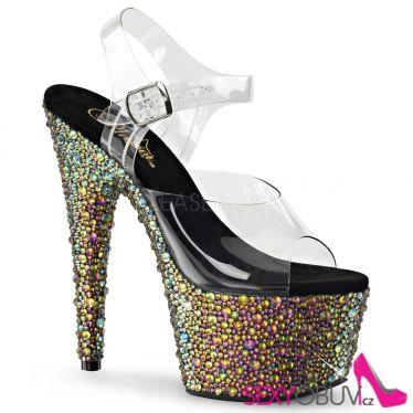 BEJEWELED-708MS Luxusní boty na podpatku a platformě
