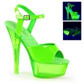 KISS-209UVT Zelené svítící sexy boty