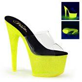 ADORE-701UVG Žluté svítící sexy boty