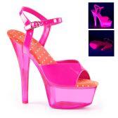 KISS-209UVT Růžové svítící sexy boty