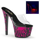 SKY-301-5 Sexy pantofle růžová prskavka