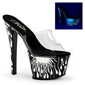 SKY-301-5 Sexy pantofle bílá prskavka