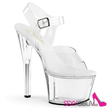 SKY-308VL Průhledné sexy sandály na vysokém podpatku