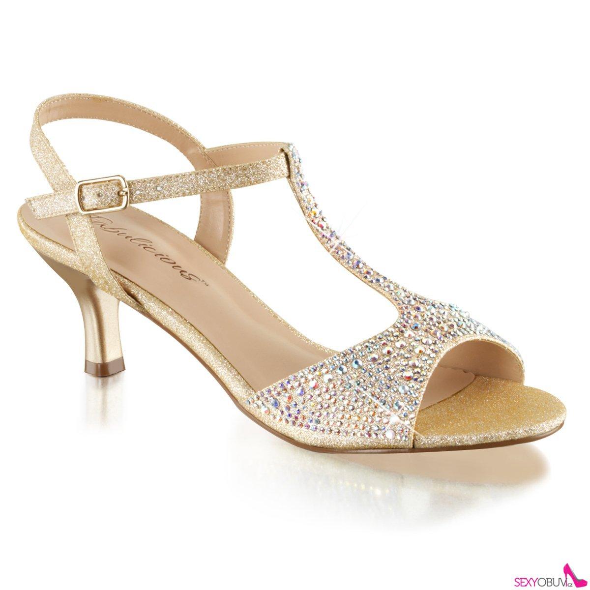2a98b5351f AUDREY-05 Béžové společenské sandály na nízkém podpatku