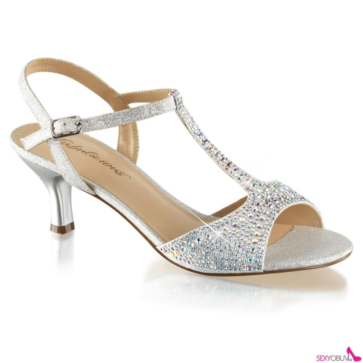 AUDREY-05 Stříbrné společenské sandály fe63f19e01