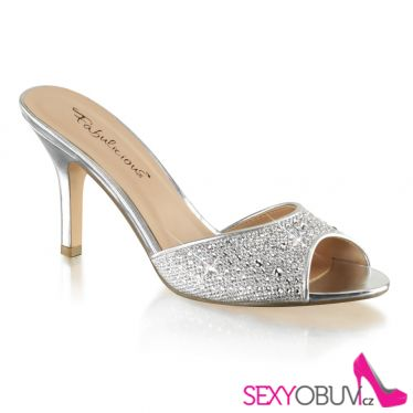 LUCY-01 Stříbrné pantofle