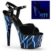 ADORE-709NLB Svítící sexy boty s modrými blesky