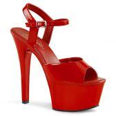 ASPIRE-609 Červené sexy boty na vysokém podpatku a platformě
