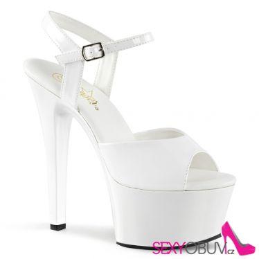 ASPIRE-609 Bílé sexy boty na vysokém podpatku