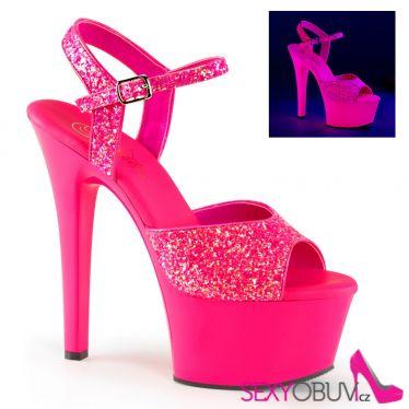 ASPIRE-609G Růžové svítící sexy boty