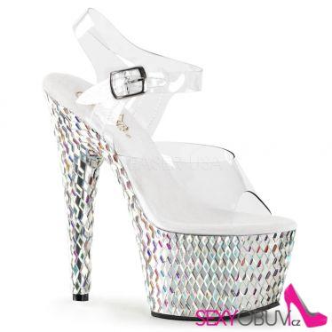 BEJEWELED-708DS Luxusní sexy sandály na vysokém podpatku