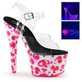 BEJEWELED-708UVLP Růžové svítící luxusní boty