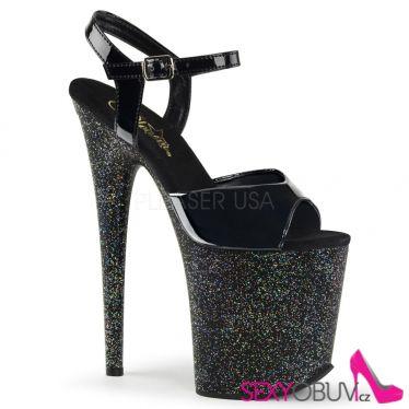 FLAMINGO-809MG Sexy černé boty na extra podpatku