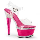 ILLUSION-658RS Luxusní růžové sexy boty