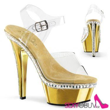 KISS-208RS-1 Zlaté sexy boty