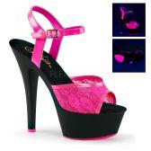 KISS-209ML Růžové svítící sexy sandály