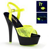 KISS-209ML Žluté svítící sexy sandály
